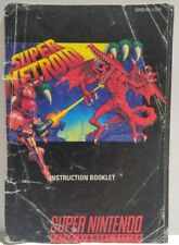 Super Metroid Instruction Booklet Manual Only for Super Nintendo SNES NTSC