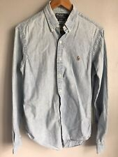POLO Ralph Lauren Camicia Blu (Chambray) Taglia S-SLIM FIT