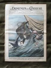 La Domenica del Corriere 28 Aprile 1935 Veliero Lampedusa Idrovolante Re e Duce