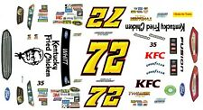 #72 Cole Whitt KFC Ford Fusion 1/43rd Scale Slot Car Decals
