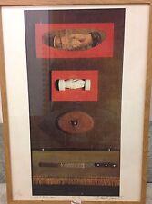 Daniel SPOERRI - Lithographie lithograph S/N salut les copains Jean Tinguely *