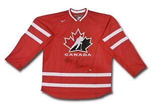 Brayden Schenn Sean Couturier Dual Autographed Team Canada Jersey Red #/30 UDA