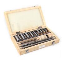 """18 Pcs HSS Keyway Broach Kit Size 1/8'' 3/16"""" 1/4'' 3/8"""" Broaches CNC Tools Set"""