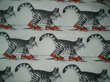 Funky LARGE B.KLIBAN CAT with RED SNEAKERS Fabric (71cm x 100cm)