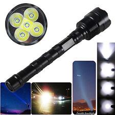 Super Bright 10000LM 5X XML T6 LED Tactical Spotlight Hunting Flashlight Lamp