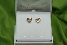 Irish Jewellery Maureen O'Hara Rose Gold Claddagh Stud Earrings Quiet Man