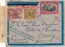 Lettre El Salvador Republica via Clipper Red Cancel War WWII Censored Cover Rare