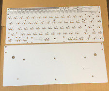 White Discipline 65 Mechanical Keyboard Through hole PCB with Base Plate