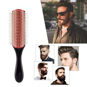 Denman Cushion Brush Bristles 9-Row Detangles Distribute Barbers Hair Curlys uk