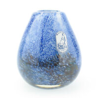 Verrerie d'Art soisy sur école französische Glas Vase Vintage bunt Tropfenform