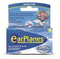 EarPlanes Adult Earplugs - 1 Pair Hypoallergenic Flying Ear Plugs