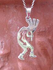 Kette mit Anhänger Kokopelli Schamane Indianer Stil Sterling Silber 925