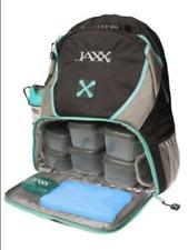 JAXX FitPak Meal Prep Bag Backpack Black Teal Food Organised Storage Container
