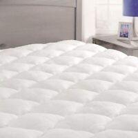 Extra Thick Mattress Topper Full Size Down Alternative Pillow Top Cover Pad