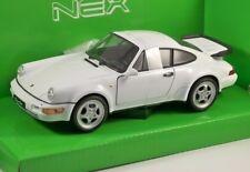 1/24 DIECAST WELLY Porsche 964 Turbo 1/24 Car White