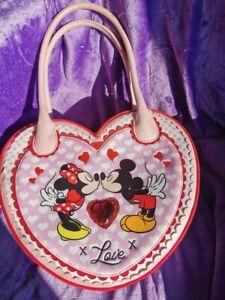 Irregular Choice I Heart Minnie Heart Shaped Bag