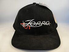 Zorro Vintage Black Snapback Hat Cap