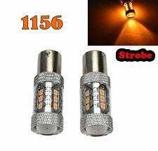 Strobe Rear Signal 1156 BA15S 7506 3497 1141 P21W 80W Amber LED Bulb M1 Euro R