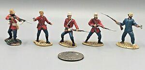 (5) Vintage Conte Ltd 2002 Lead Metal Zulu War Toy Soldiers 54mm EXCEL 289 2L