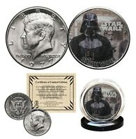 DARTH VADER - STAR WARS Genuine 1977 JFK Kennedy Half Dollar US Coin LICENSED