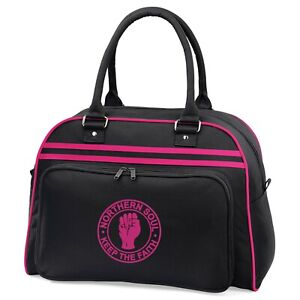 Northern Soul Retro Bowling Bag With Embroidered Fist Logo. Mod, Ska, Retro.