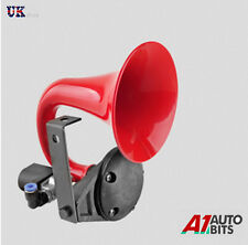 24V AIR HORN RED PLASTIC SINGLE TRUMPET PIPE ELECTRIC VALVE TRUCK LORRY HGV