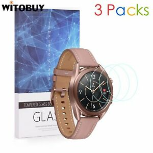 For Samsung Galaxy Watch 3 (41mm Ver.)Tempered Glass Screen Protector 9H 3 Packs
