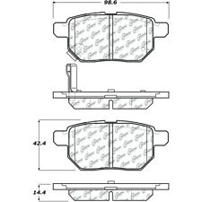 Disc Brake Pad Set Rear Centric 105.13541