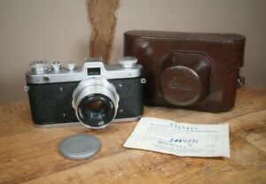 Fed Zarya Soviet 35mm 1959 Camera with 50mm f2.8 Industar 26m lens - Excellent