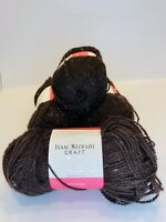 Isaac Mizrahi Craft Premier Yarn Color Palace Lot Of 4 Chocolate Brown Sparkle
