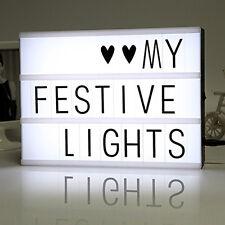 A4 Cinematic Light Box Cinema LED Letter Lamp House Party Wedding Xmas Decor