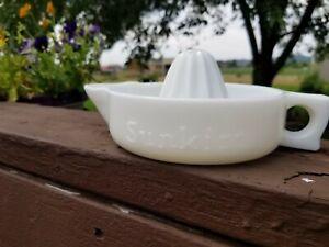 Vintage SUNKIST Reamer, Pat No. 68764, Milk Glass