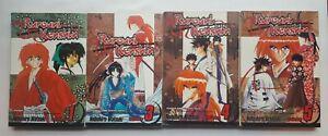 Rurouni Kenshin Manga Volumes 1, 3-5 English Lot OK Condition