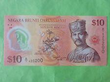Brunei $10 Polymer 2011 (UNC) 1st Prefix D/1 425200