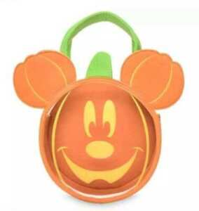 DISNEY MICKEY MOUSE Halloween GLOW IN THE DARK TREAT BAG NEW!