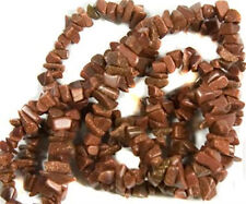 """Goldstone Chip Beads 34"""" - 36"""" Endless Strand or Necklace Small -  Medium Chips"""
