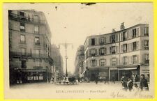 cpa 92 - LEVALLOIS PERRET (Hauts de seine) PLACE CHAPTAL Animée DOS 1900