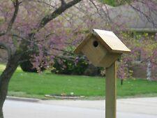 Wren Bird House All Natural Rough Sawn Red Cedar