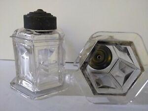 Antique light fixture shades made chezcoslovakia cut Cristal.diamond cut style