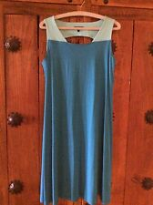 Eileen Fisher NWOT Womans Two Tone Blue Dress _Small