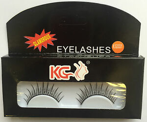 KG001 KG STRIP EYELASHES WITH GLUE BRAND NEW ( PACK OF 2 )