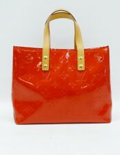 Louis Vuitton M91088 Reade PM Red Rouge Monogram Vernis Leather Tote Handbag