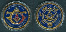 Masonic Freemason BROTHERHOOD OF MAN UNDER THE FATHERHOOD OF GOD Coin Medal