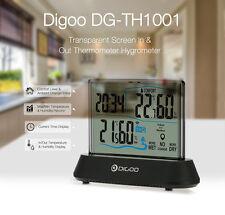 Digoo Transparent Réveil Station Météo Température Humidité IN&Exterieur Sensor