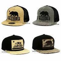 California Republic hat Straw cap Embroidered Snapback Flat bill Baseball cap