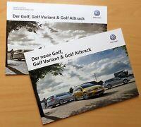 1314) Golf, Golf Variant, Golf Alltrack Prospekt 06/2017 + Preise 2018 brochure
