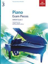 ABRSM Piano Exam Pieces Book Only 2019 - 2020, Grade 3