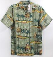 Tommy Bahama Zama Palms-Tea Leaf Island Zone Silk Blend Camp Shirt $135