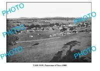 OLD 6x4 PHOTO OF YASS NSW PANORAMIC VIEW c1880 1