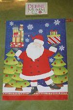"New listing New Santa Claus Christmas House Garden Flag 28"" x 40"" Debbie Mumm"